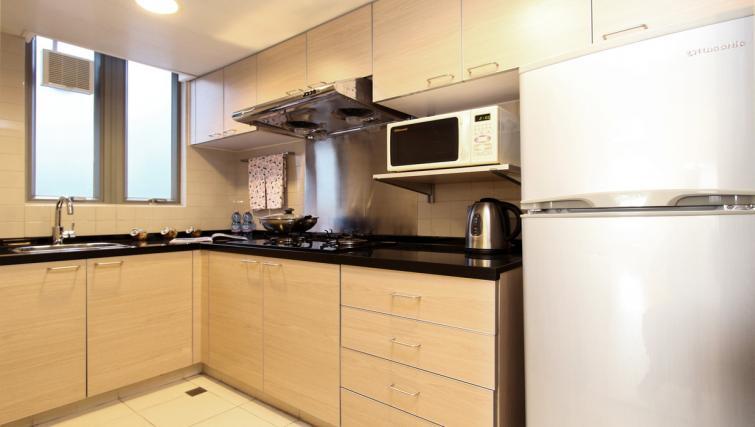 Modern kitchen at Wan Chai Apartments - Citybase Apartments