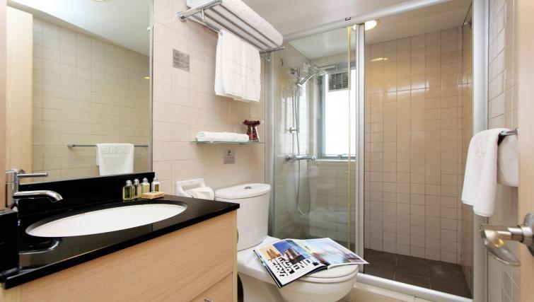 Shower at Wan Chai Apartments - Citybase Apartments