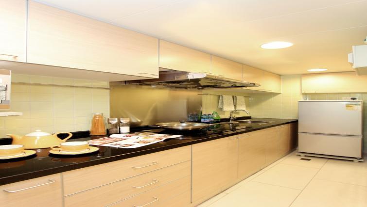 Open kitchen area at Wan Chai Apartments - Citybase Apartments