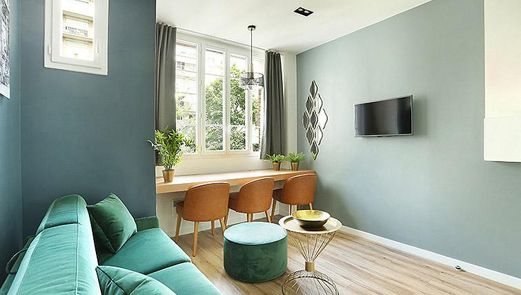 Homely living area at Eiffel Village Apartments - Citybase Apartments