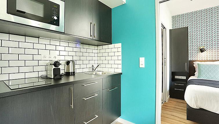 Kitchen at Eiffel Village Apartments - Citybase Apartments