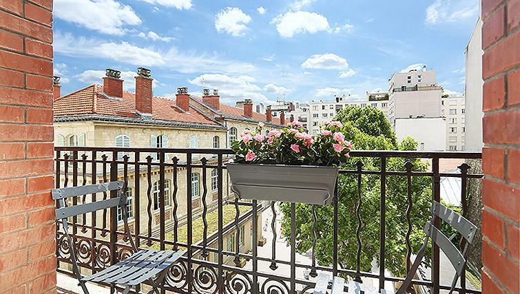 Balcony at Eiffel Village Apartments - Citybase Apartments