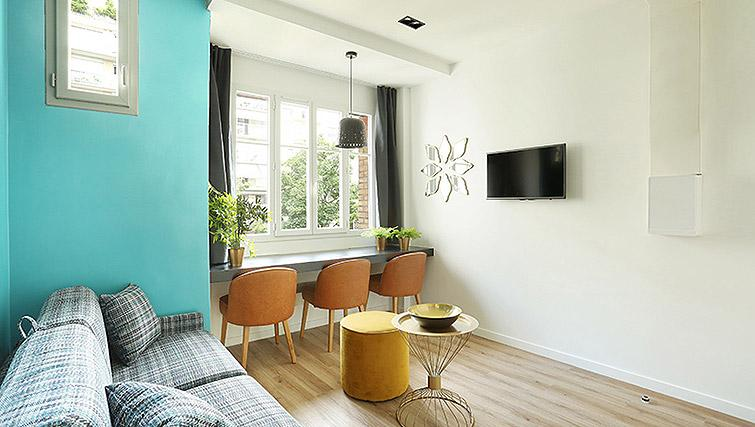 Cosy living area at Eiffel Village Apartments - Citybase Apartments