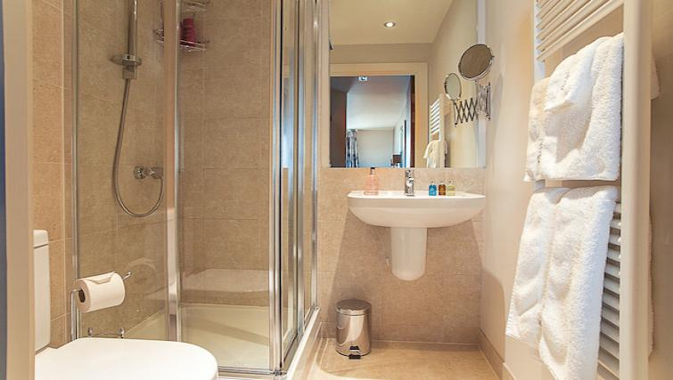 Shower at 9 Freedom Quay Apartment - Citybase Apartments