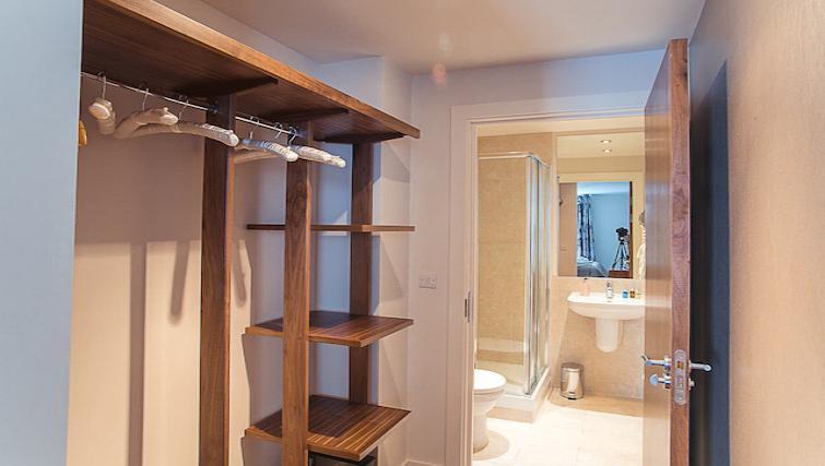Bathroom at 9 Freedom Quay Apartment - Citybase Apartments