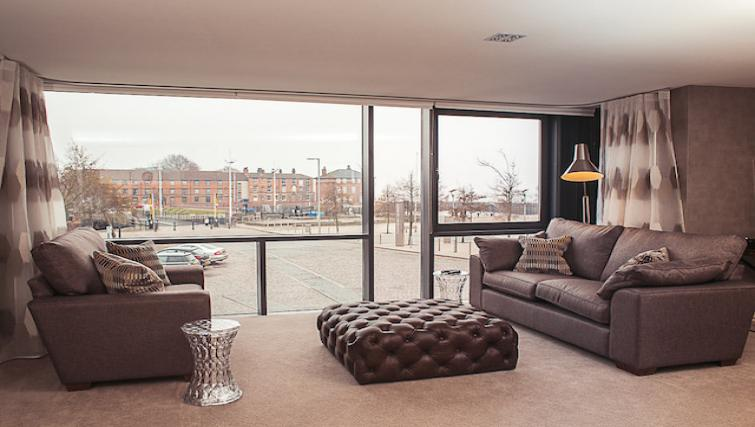 Living area at 9 Freedom Quay Apartment - Citybase Apartments