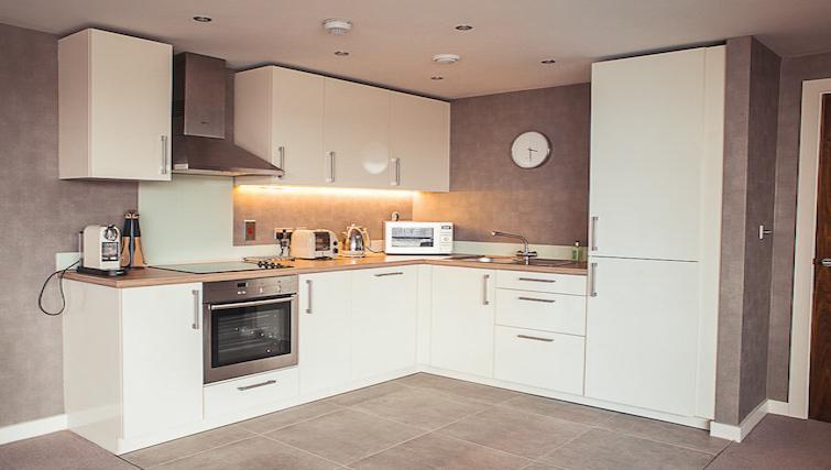 Kitchen at 9 Freedom Quay Apartment - Citybase Apartments