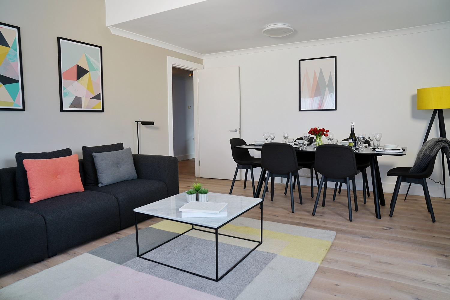 Dining area at Monarch House, Kensington, London - Citybase Apartments
