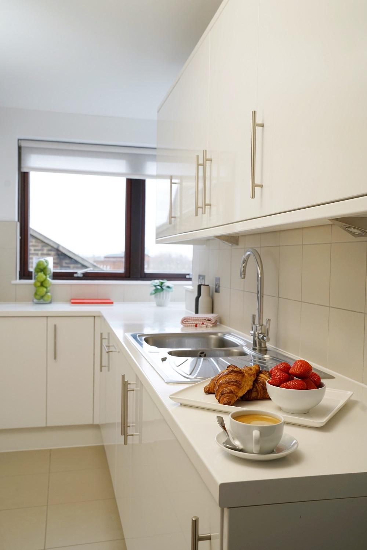 Kitchen at Monarch House, Kensington, London - Citybase Apartments