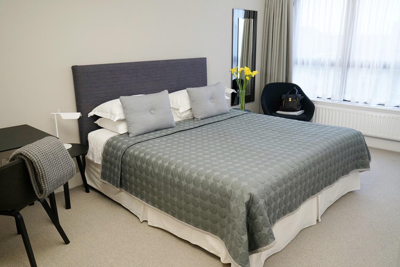 Bed at Monarch House, Kensington, London - Citybase Apartments