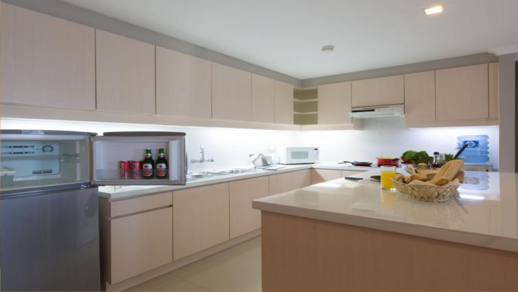 Kitchen facilities at the Hotel Kristal Jakarta - Citybase Apartments