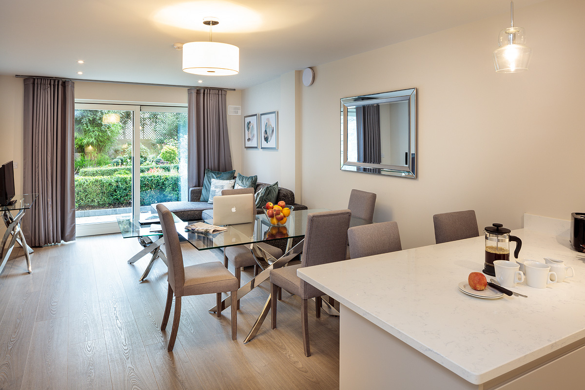 Open-plan at Baggot Rath House Apartments, Ballsbridge, Dublin - Citybase Apartments