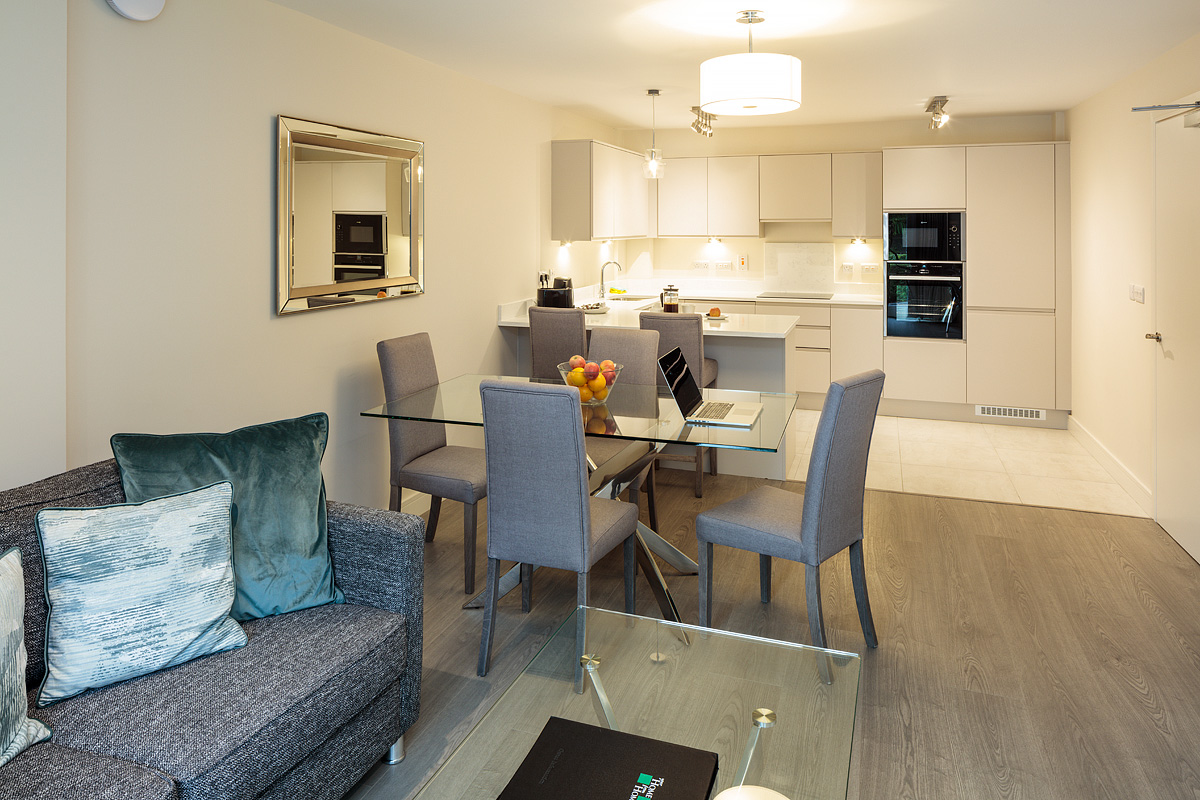 Dining area at Baggot Rath House Apartments, Ballsbridge, Dublin - Citybase Apartments