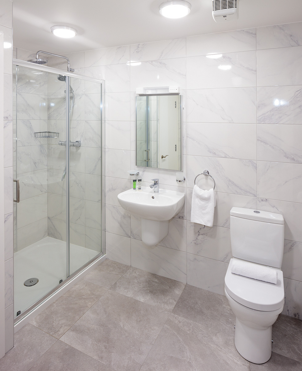 Bathroom at Baggot Rath House Apartments, Ballsbridge, Dublin - Citybase Apartments