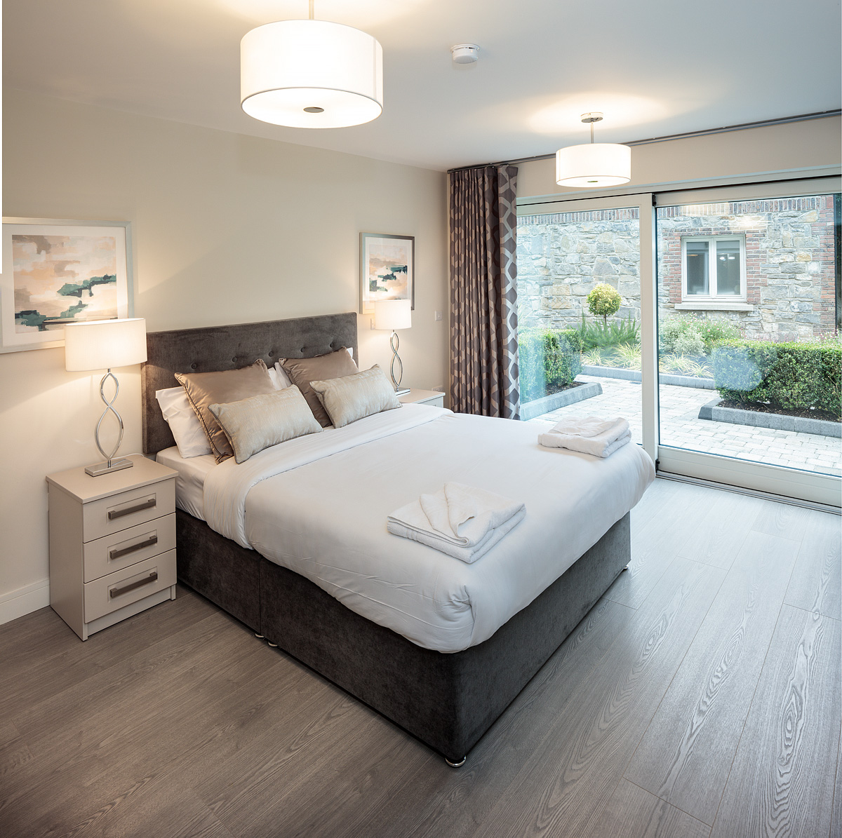 Bedroom at Baggot Rath House Apartments, Ballsbridge, Dublin - Citybase Apartments
