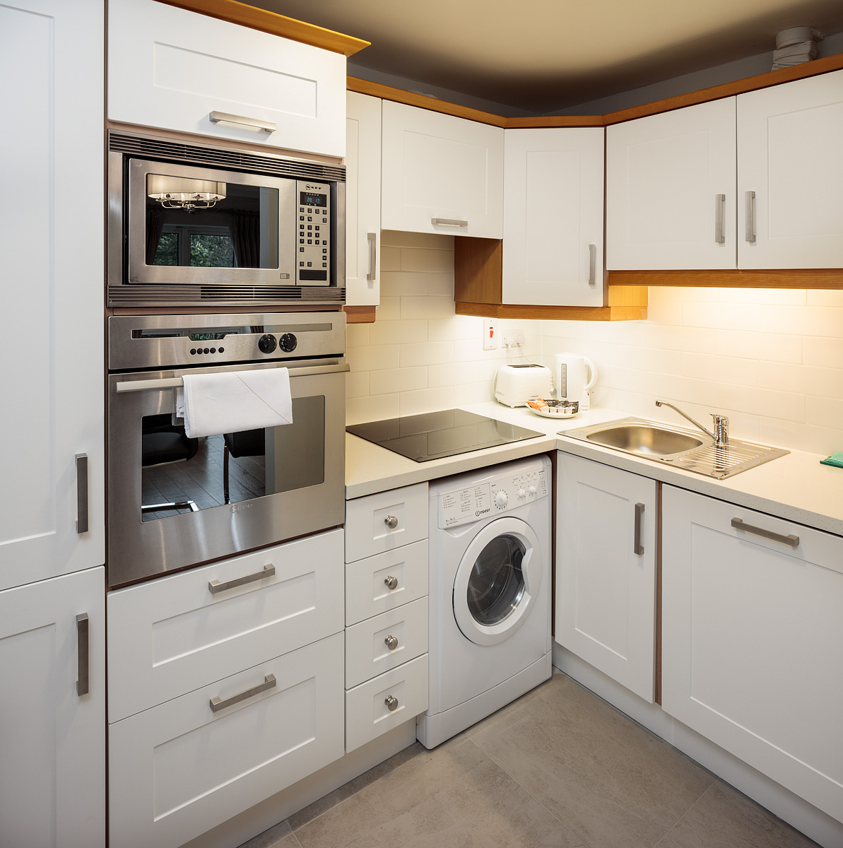 Kitchen at Baggot Rath House Apartments, Ballsbridge, Dublin - Citybase Apartments