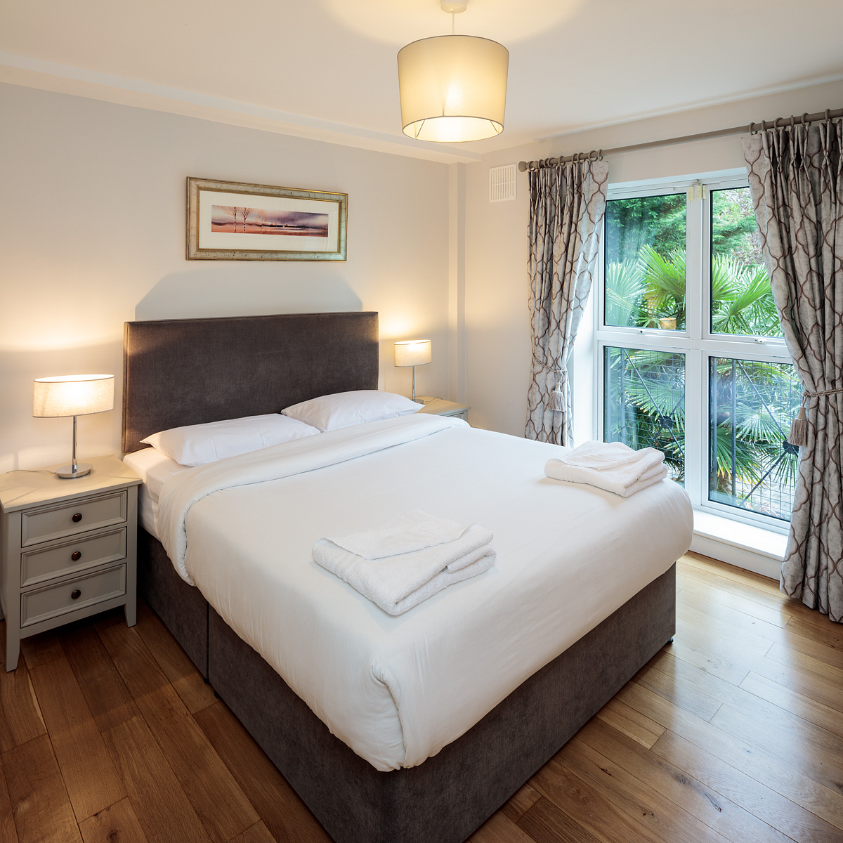Bright bedroom at Baggot Rath House Apartments, Ballsbridge, Dublin - Citybase Apartments