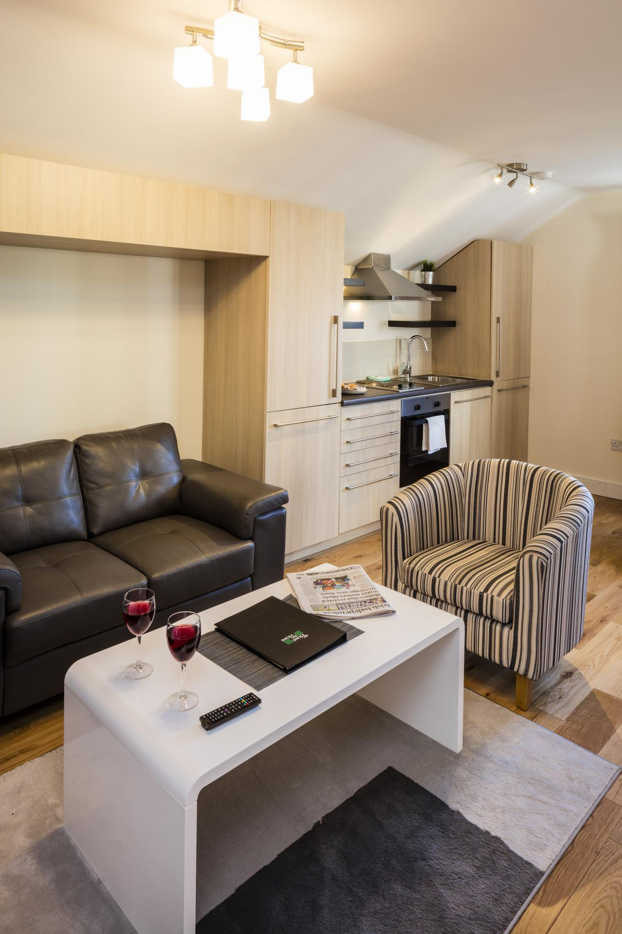 Sofas at Baggot Rath House Apartments, Ballsbridge, Dublin - Citybase Apartments