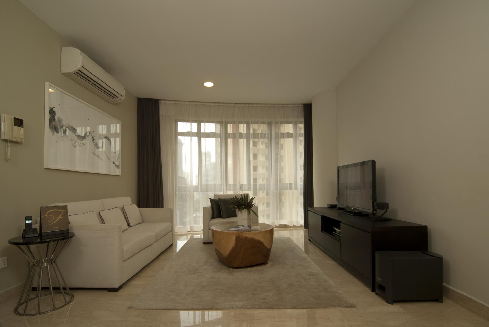 Living room at Fraser Residence Singapore - Citybase Apartments