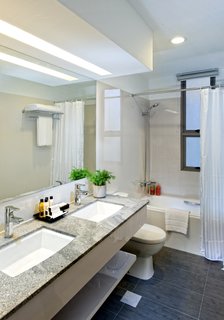 Bathroom at Fraser Residence Singapore - Citybase Apartments