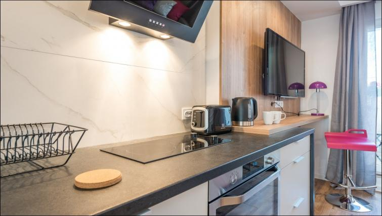 Kitchen at the Emilii Plater Apartments - Citybase Apartments
