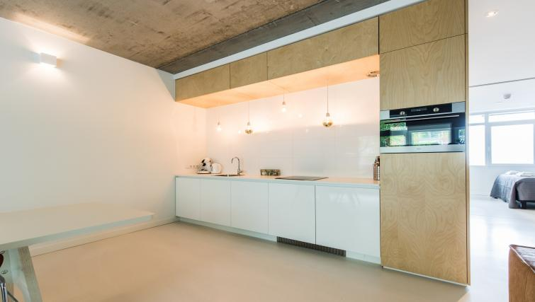 Kitchen at Houthavens Serviced Apartments, Amsterdam - Citybase Apartments