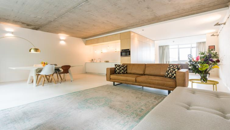 Living area at Houthavens Serviced Apartments, Amsterdam - Citybase Apartments
