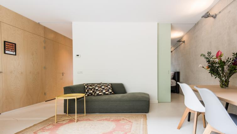 Living room at Houthavens Serviced Apartments, Amsterdam - Citybase Apartments