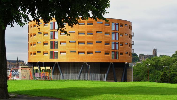 Exterior of Bridge Square Apartments - Citybase Apartments