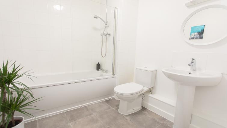 Bathroom at Bridge Square Apartments - Citybase Apartments
