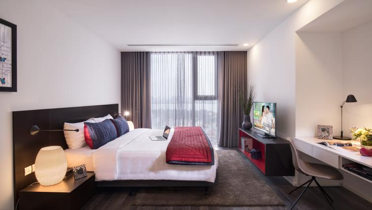 Double bedroom at Somerset West Point Hanoi Apartments - Citybase Apartments