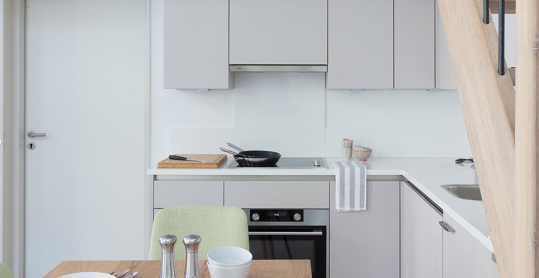 Fully equipped kitchen at The Wittenberg Apartments, Amsterdam - Citybase Apartments