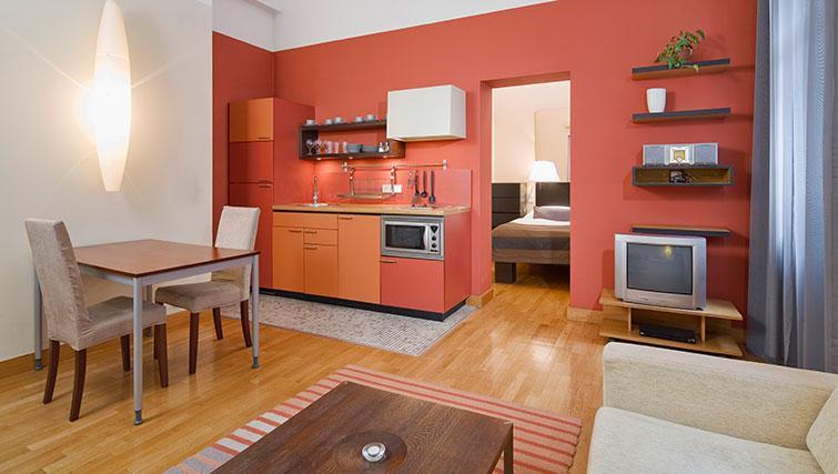 Modern kitchen in Mamaison Residence Belgicka - Citybase Apartments