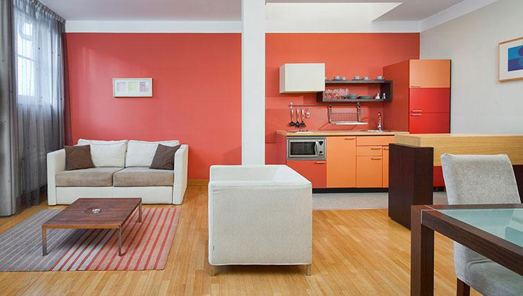 Bright living area in Mamaison Residence Belgicka - Citybase Apartments
