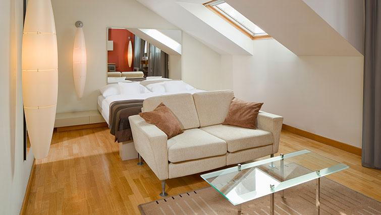 Elegant bedroom in Mamaison Residence Belgicka - Citybase Apartments