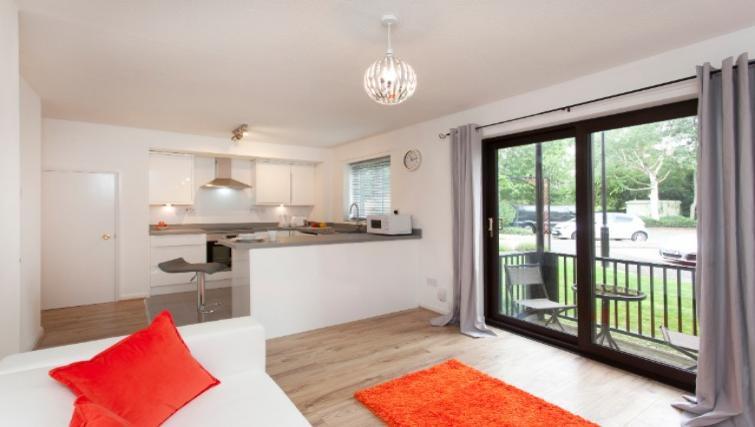 Open plan living area at Flamingo Court Apartment - Citybase Apartments