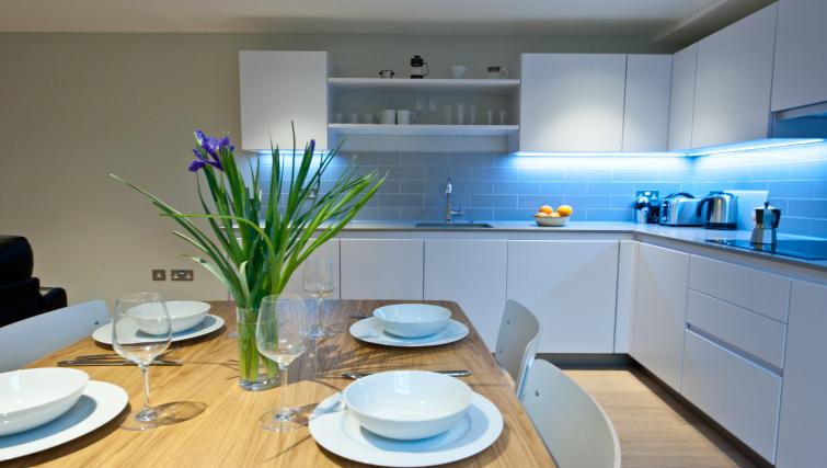 Kitchen at Spitalfields Hanbury Apartment - Citybase Apartments