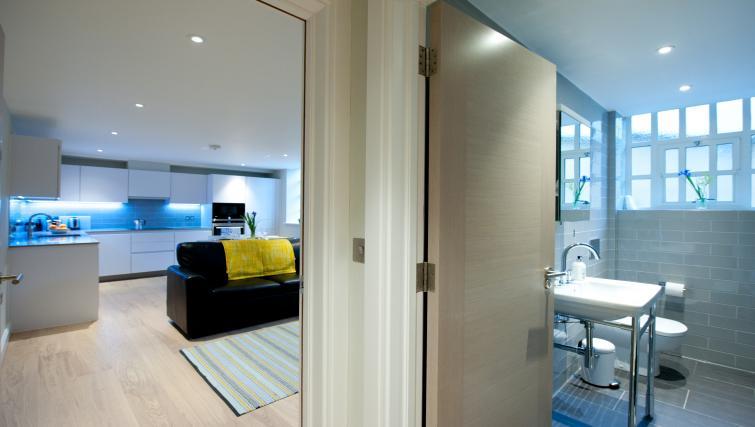 Living room view at Spitalfields Hanbury Apartment - Citybase Apartments