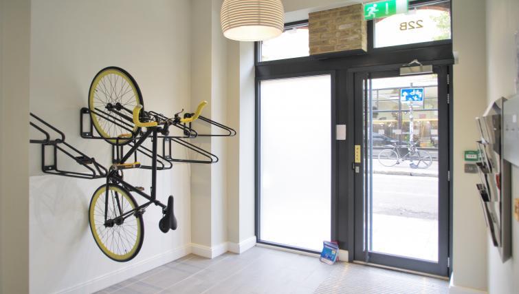 Bicycle rack at Spitalfields Hanbury Apartment - Citybase Apartments