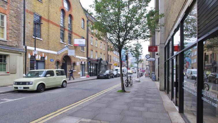 Street view at Spitalfields Hanbury Apartment - Citybase Apartments