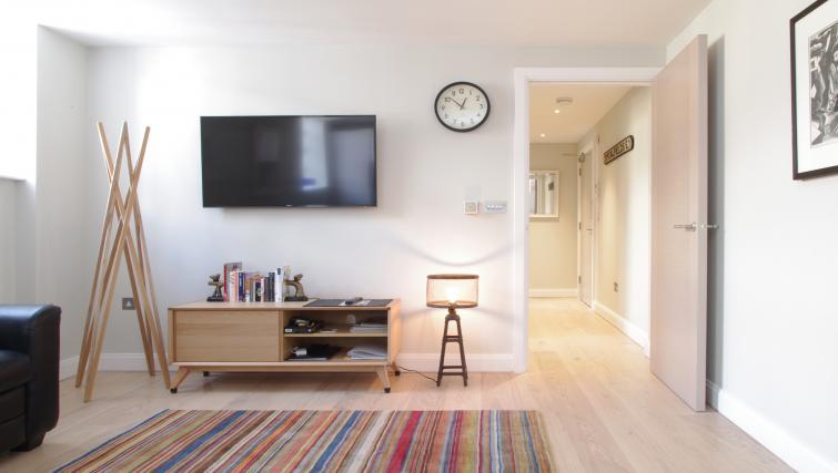 Living area at Spitalfields Hanbury Apartment - Citybase Apartments