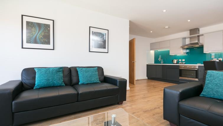 Living room at the Bluestone Trinity Apartment - Citybase Apartments