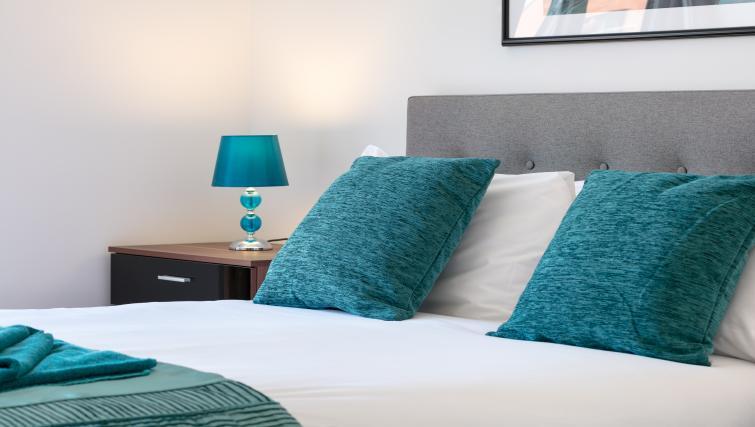Bed decor at the Bluestone Trinity Apartment - Citybase Apartments