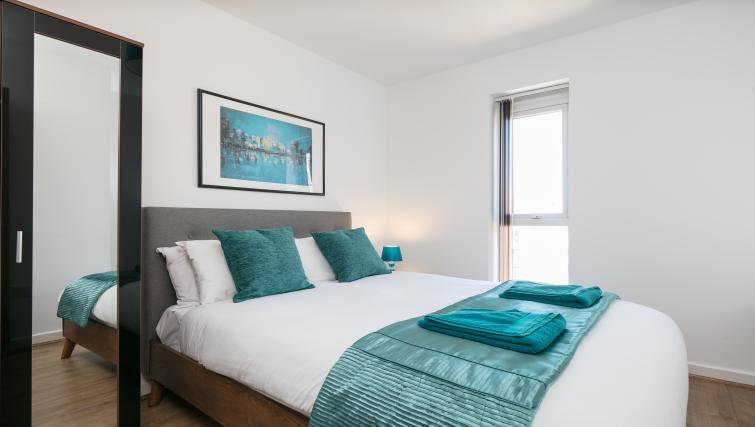 Bed at the Bluestone Trinity Apartment - Citybase Apartments