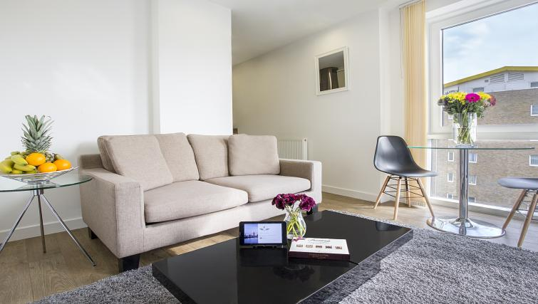Stylish living area at Flying Butler Limehouse - Citybase Apartments