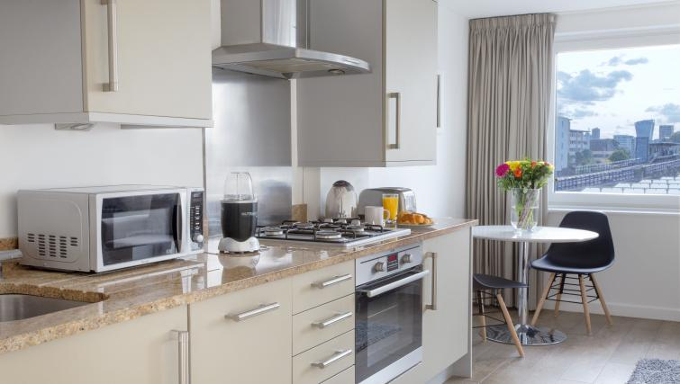 Studio Kitchen at Flying Butler Limehouse - Citybase Apartments