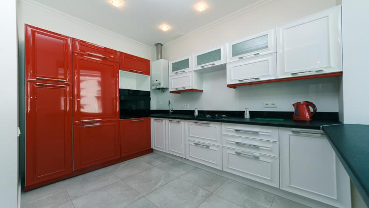 Equipped kitchen at Darvina Apartment - Citybase Apartments