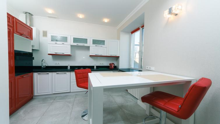 Dining area at Darvina Apartment - Citybase Apartments