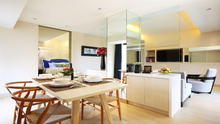 Kitchen in 1 bed at Village Hotel Katong, Singapore - Citybase Apartments