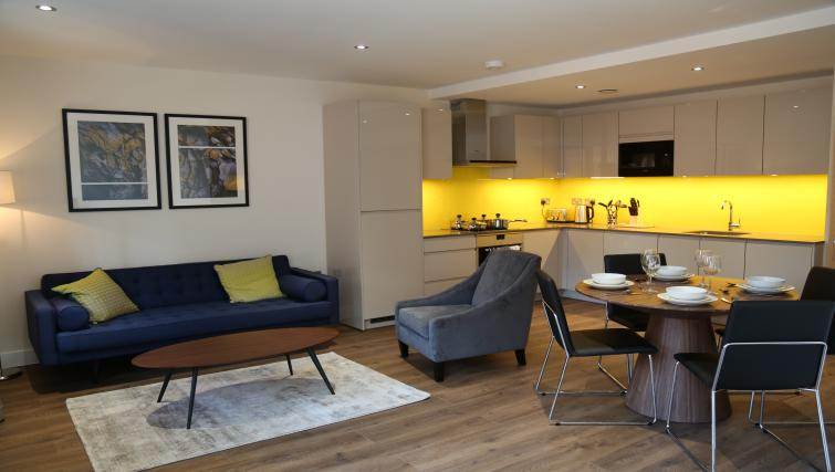 Open-plna living area at Aldgate City Apartments - Citybase Apartments